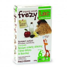 Frezylac Βρεφική Κρέμα Βρώμης Ολικής Άλεσης με Γάλα, Μήλο & Βανίλια, 200 gr