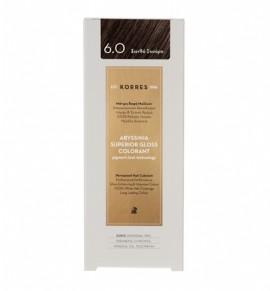 Korres Abyssinia Superior Gloss Colorant Μόνιμη Βαφή Μαλλιών 6.0 Ξανθό Σκούρο 50ml