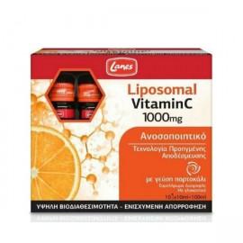 Lanes Liposomal Vitamin C 1000mg Συμπλήρωμα Διατροφής για το Ανοσοποιητικό με Γεύση Πορτοκάλι, 10αμπούλες x 10ml
