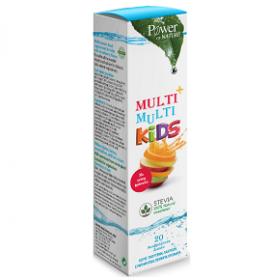 Power Of Nature Multi+Multi Kids Stevia Παιδικό Πολυβιταμινούχο Συμπλήρωμα Διατροφής με Γεύση Φράουλα, 20 Αναβράζοντα Δισκία