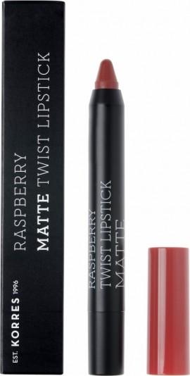Korres Raspberry Matte Twist Lipstick Ruby Red 1.5g