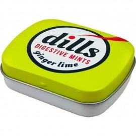 Dills Digestive Mints Ginger & Lime Παστίλιες Για Τη Χώνεψη Και Την Κακοσμία 15gr