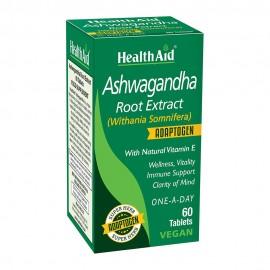 Health Aid Ashwagandha Root Extract, Για Ηρεμία, Ενέργεια & Υποστήριξη Του Ανοσοποιητικού, 60tabs