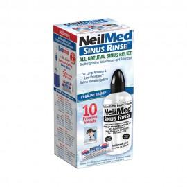 NeilMed Sinus Rinse, Σύστημα Φυσικής Θεραπευτικής Ανακούφισης Των Ρινικών Παθήσεων, 1 εύκαμπτη φιάλη + 10 Φακελάκια