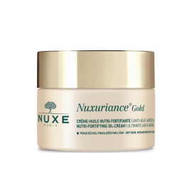 Nuxe Nuxuriance Gold Nutri-Fortifying Oil-Cream Ultimate Anti-Aging for Dry Skin Αντιγηραντική Κρέμα Ημέρας για Θρέψη & Ενυδάτωση, 50ml