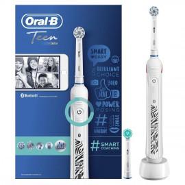 Oral-B Teen White Smart Coaching Ηλεκτρική Οδοντόβουρτσα 1τμχ