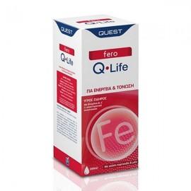 Quest Fero Q-Life Συμπλήρωμα Υγρού Σιδήρου με Γεύση Πορτοκάλι & Μέλι για Ενέργεια & Τόνωση, 200ml