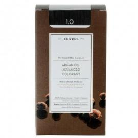 Korres Argan Oil Advanced Colorant Μόνιμη Βαφή Μαλλιών 1.0 Μαύρο Φυσικό 50ml