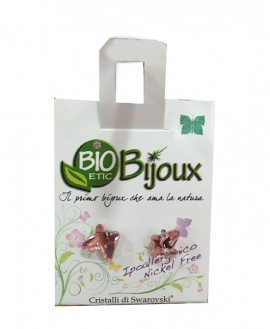 Farma Bijoux Σκουλαρίκια Πεταλούδα Ροζ 8mm, 1 Ζευγάρι
