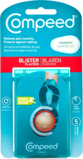 Compeed Blister Underfoot, Επιθέματα Για Φουσκάλες Κάτω Από Το Πέλμα, 5τμχ