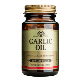 Solgar Garlic Oil Συμπλήρωμα Διατροφής με Αγνό Σκορδέλαιο για Μείωση της Υψηλής Πίεσης - Αντιβακτηριακές, Αντιμυκητισιακές & Αντιβιοτικές Ιδιότητες, 100veg.caps