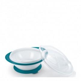 Nuk Easy Learning Bowl, Μπολ Φαγητού με 2 Καπάκια 6m+ Μπλε