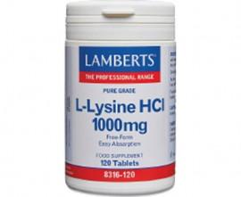 Lamberts L-Lysine 1000 mg, 120 tabs 8316-120