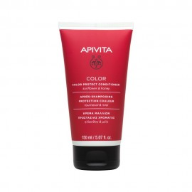 Apivita Color Protect Conditioner Colored Hair,Μαλακτική Κρέμα Προστασίας Χρώματος με Ηλίανθο & Μέλι 150ml