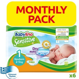 BABYLINO SENSITIVE Monthly Pack No1 (2-5kg) 168τεμ