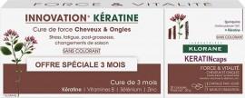 Klorane Keratin Caps Promo (2+1 Δώρο), Συμπλήρωμα Διατροφής για Δυνατά Μαλλιά & Νύχια Με Κερατίνη, 3x30 caps