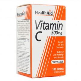 Health Aid Vitamin C 500mg Συμπλήρωμα Διατροφής για Τόνωση, Ενίσχυση Ανοσοποιητικού Συστήματος, 100chew.tabs