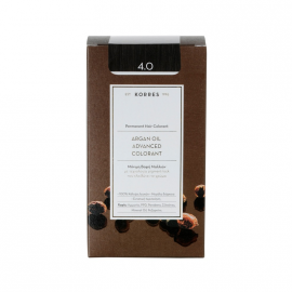 Korres Argan Oil Advanced Colorant Μόνιμη Βαφή Μαλλιών 4.0 Καστανό Φυσικό 50ml