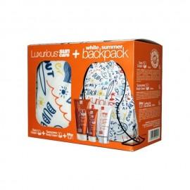 Intermed Luxurious Suncare Promo Pack με Face Cream SPF50 50ml & Sunscreen Body Cream SPF30 200ml & After Sun Cooling Gel Face & Body Κρέμα Προσώπου & Σώματος 150ml & White Summer Backpack 1τμχ
