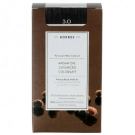 Korres Argan Oil Advanced Colorant Μόνιμη Βαφή Μαλλιών 3.0 Καστανό Σκούρο Φυσικό 50ml