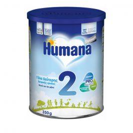 Humana Optimum 2 Βρεφικό Γάλα 2ης Ηλικίας, Μετά τον 6ο Μήνα, Αριστη Διάλυση 350gr