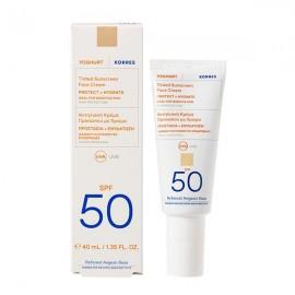 Korres Yoghurt Sunscreen Face Αντηλιακή Κρέμα Προσώπου με Χρώμα SPF50, 40ml