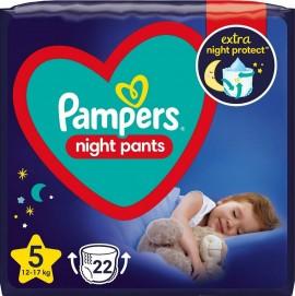Πάνες Pampers Night Pants Νο5 (12-17kg), 22τεμ