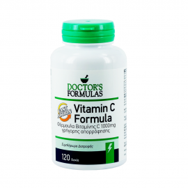 Doctors Formulas Vitamin C 1000mg Συμπλήρωμα Βιταμίνης C για την Τόνωση του Οργανισμού & Ενίσχυση του Ανοσοποιητικού Συστήματος, 120tabs