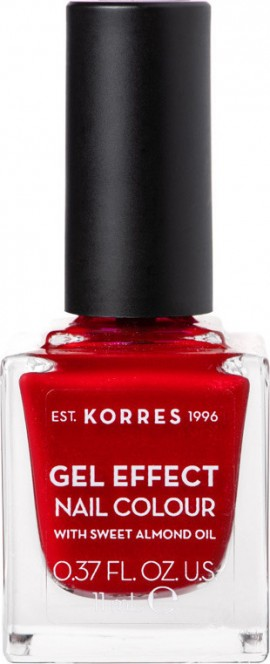 Korres Βερνίκι Νυχιών Gel Effect Nail Colour No54 Melted Rubies 11ml