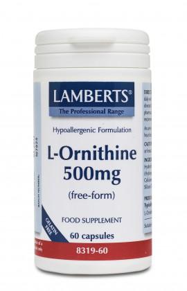 LAMBERTS L-ORNITHINE HCI 500MG 60CAPS