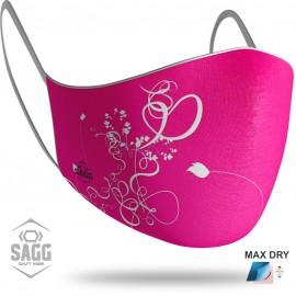 Γυναικεία Μάσκα Προστασίας Pink Flowers, SAGG
