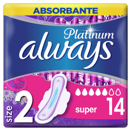 Always Σερβιέτες Platinum Ultra Super Plus Size 2 14τμχ