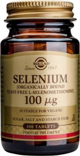 Solgar Selenium 100μg, Συμπλήρωμα με Σελήνιο 50 Tablets