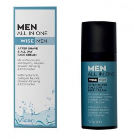 Vican Wise Men All In One After Shave & All Day Face Cream Κρέμα Προσώπου για μετά το Ξύρισμα, 50ml
