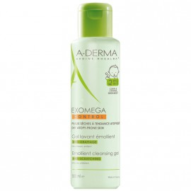 A-Derma Exomega Gel Lavant Emollient 2 en 1 Μαλακτικό Τζελ Καθαρισμού 2 σε 1 για το Ατοπικό Δέρμα, για Μαλλιά & Σώμα, 500ml