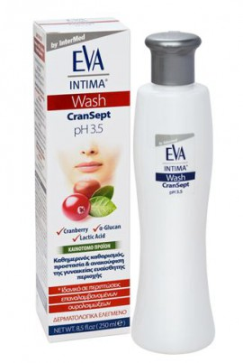 Intermed Eva Intima Wash Cransept Καθημερινός Καθαρισμός Γυναικείας Ευαίσθητης Περιοχής 250ml
