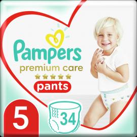 Pampers Pants Premium Care Μέγεθος 5 12-17Kg 34 Πάνες-Βρακάκι