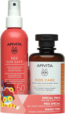Apivita Πακέτο Προσφοράς Bee Sun Safe με Hydra Kids Lotion SPF50 Παιδική Αντηλιακή Lotion Για Πρόσωπο Σώμα, 200ml & Gentle Kids Hair Body Wash Παιδικό Σαμπουάν & Αφρόλουτρο, 250ml