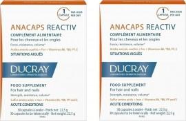 Ducray Promo Anacaps Reactiv, Συμπλήρωμα κατά της Αντιδραστικής Τριχόπτωσης, 2x30Caps