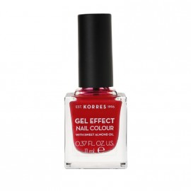 Korres Βερνίκι Νυχιών Gel Effect Nail Colour No51 Rosy Red 11ml