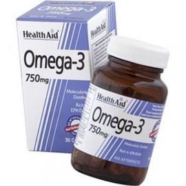 Health Aid Omega 3 750mg Πολυακόρεστα Λιπαρά Οξέα Ωμέγα 3 (EPA & DHA 750mg), μοριακής απόσταξης, 30caps