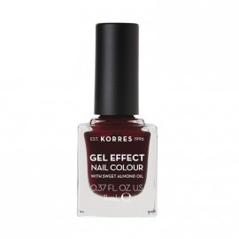 Korres Βερνίκι Νυχιών Gel Effect Nail Colour No57 Burgundy Red 11ml