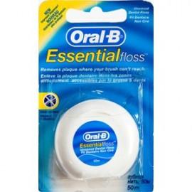Oral-B Essential Floss Ακύρωτο Οδοντικό Νήμα 50m, 1τμχ