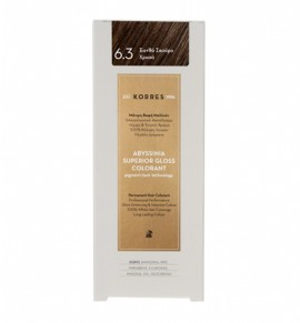 Korres Abyssinia Superior Gloss Colorant Μόνιμη Βαφή Μαλλιών 6.3 Ξανθό Σκούρο Χρυσό 50ml