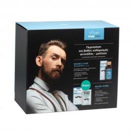 Vican PROMO Wise Men Beard & Hair Shampoo Fresh Ανδρικό Σαμπουάν για Μαλλιά & Γένια 200ml - ΔΩΡΟ Bread Wipes Fresh Μαντηλάκια Καθαρισμού Γενειάδας 12 τεμάχια