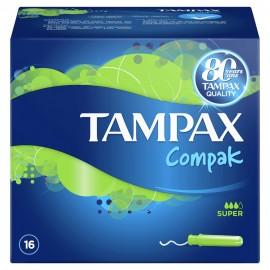 Tampax Compak Regular Tampons with Applicator, Ταμπόν για Κανονική Ροή, 16τμχ