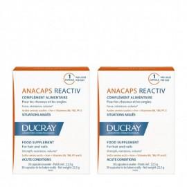 Ducray Promo Anacaps Reactiv, Συμπλήρωμα Διατροφής για Μαλλιά και Νύχια 2x30Caps