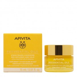 Apivita Beessential Oils Balm Προσώπου Νύχτας, Συμπλήρωμα Ενδυνάμωσης & Θρέψης της Επιδερμίδας, 15ml
