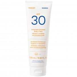 Korres Yoghurt Sunscreen Body & Face Αντηλιακό Γαλάκτωμα Σώματος & Προσώπου SPF30, 250ml