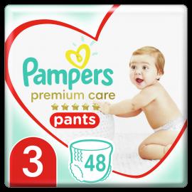 Pampers Pants Premium Care Πάνες Βρακάκι No3 (6-11kg), 48 Πάνες